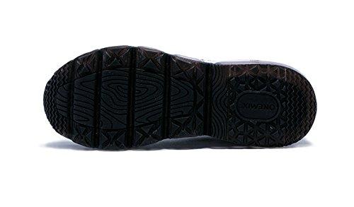 Onemix Air Zapatillas para Correr y Asfalto Deportivas Para Hombre de Malla Transpirable Para Correr Al aire Libre negro/blanco