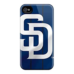 Iphone 4/4s SXN191KANF Custom Stylish San Diego Padres Pattern Protector Cell-phone Hard Cover -DustinFrench