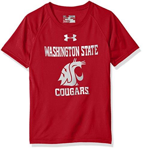 Under Armour NCAA Washington State Cougars Youth Short Sleeve Tech Tee, X-Large, Crimson