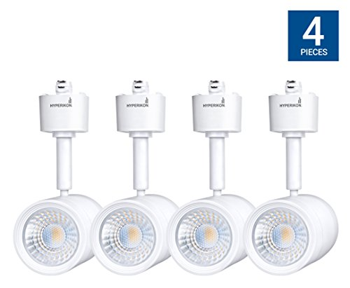 Hyperikon LED Track Head Lighting, H-Type Integrated Track Head Only, 8.5W (50W Equivalent), 4000K Daylight, 40° Beam, CRI90 - for Accent Or Spot Lighting, Wall Art, Kitchen (4-Pack) (50w Wall Light)