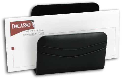 Dacasso Black Leather Letter Holder
