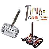 Langjitianya Thor Hammer Tool Set,Household Hand Tool Kit with Thor Hammer case
