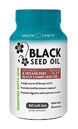 Health Logics Black Cumin Seed Oil Softgels, 100 Count