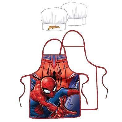 Marvel Spiderman Pieces Kitchen Set Apron + Hat Kid