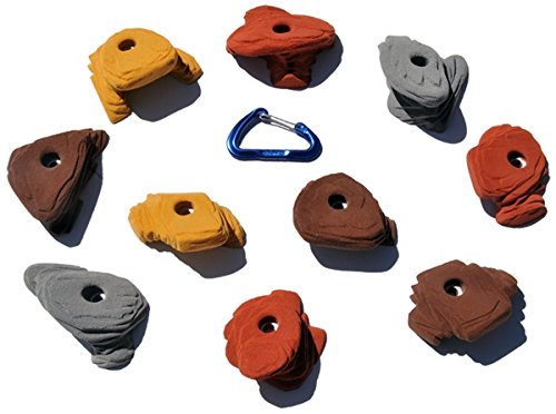 10 Large Sandstone Jugs | Climbing Holds | Mixed Earth Tones by Atomik Climbing Holds