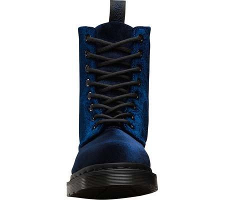 Dr. Martens Pascal Velvet - Botas de cordones Mujer Azul Oscuro