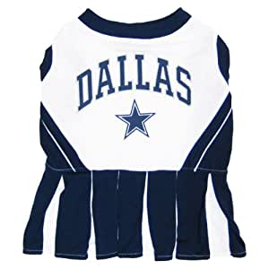 Dallas Cowboys NFL Cheerleader Dress For Dogs - Size Medium