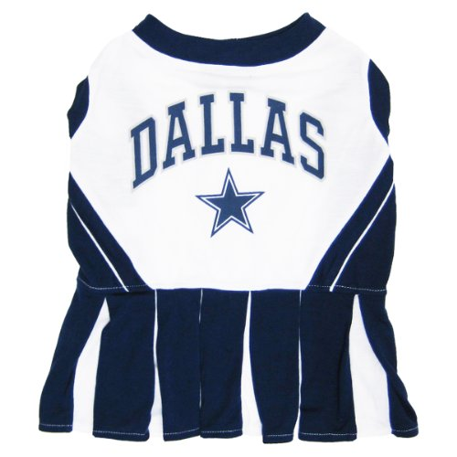 Pets First NFL Dallas Cowboys Dog Cheerleader, Small -
