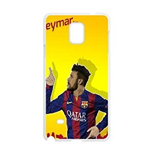 Generic hard plastic Neymar JR Cell Phone Case for Samsung Galaxy Note 4 White ABC8353178
