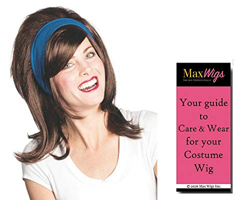 Flo Girl Florence color DARK BROWN - Enigma Wigs Progressive Stephanie Insurance Courtney Blue Headband Commercial Bundle MaxWigs Costume Wig Care Guide]()