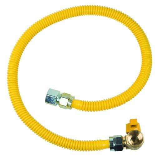 BrassCraft CSSC2P-36 ProCoat 3/4'' FIP x 3/4'' FIP Angle Ball Valve x 36'' Stainless Steel Gas Connector 5/8'' O.D. (125,000 BTU)