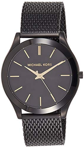 Michael Kors Men's Slim Runway Analog-Quartz Watch with Stainless-Steel Strap, Black, 22 (Model: MK8607) from Michael Kors