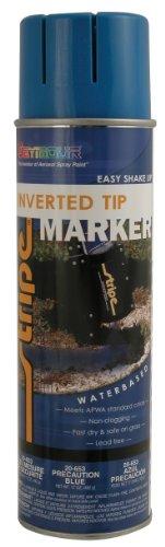Seymour 20-653 Stripe Inverted Tip Marker, Precaution Blue