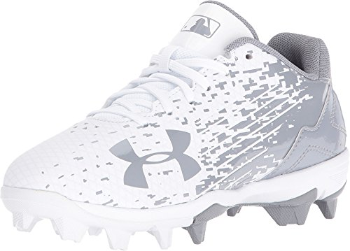 bc3a29850bb5 Galleon - Under Armour Boys' Leadoff Low RM Jr. Baseball Cleats,  White/White, 1 M US Little Kid