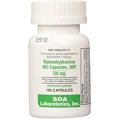 Preferred Plus Allergy Diphenhydramine Capsules 50mg 100 ea (Pack of - Mg Capsules 0.5