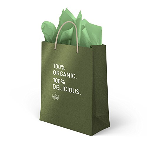 Kiss Me Organics - Beautiful branded gift bag and gift tissue paper - 1 bag with tissue paper sheets