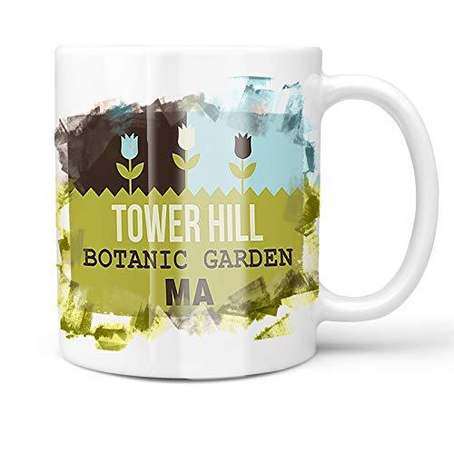 Botanic Garden Tower - Neonblond 11oz Coffee Mug US Gardens Tower Hill Botanic Garden - MA with your Custom Name
