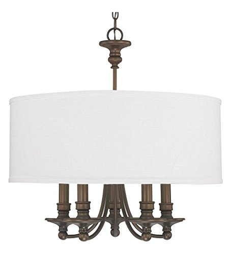 Burnished Bronze 5 Light 25in. Wide Chandelier from The Midtown Collection