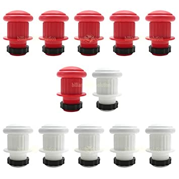 Amazon.com : Large Bumper Pool Posts: 6 Red and 6 White w/Rubber ...