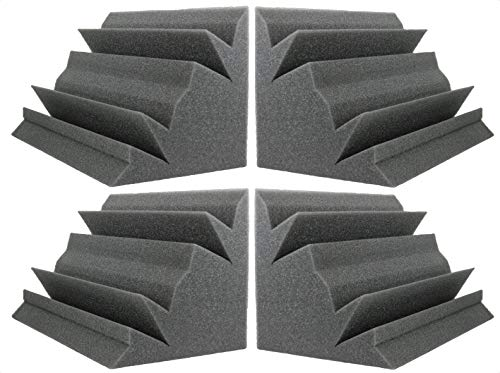 Auralex Lenrd Bass Traps - NEW LEVEL Charcoal Acoustic Foam Bass Trap Studio Corner Wall 12