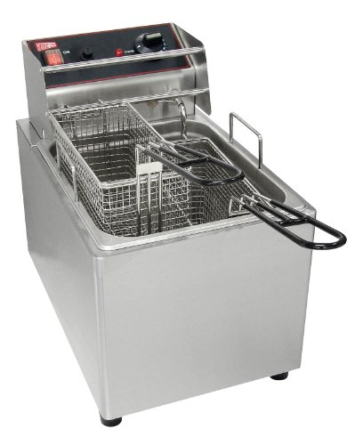 Grindmaster-Cecilware EL25 Countertop 2-Basket Electric Fryer, 15-Pound