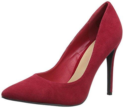10cm Zehe uBeauty spitze Toe Court schlanke Pumps Heels Womens High rote Schuhe Closed Stiletto Wildlederferse Büroarbeit 10cm qaTq4
