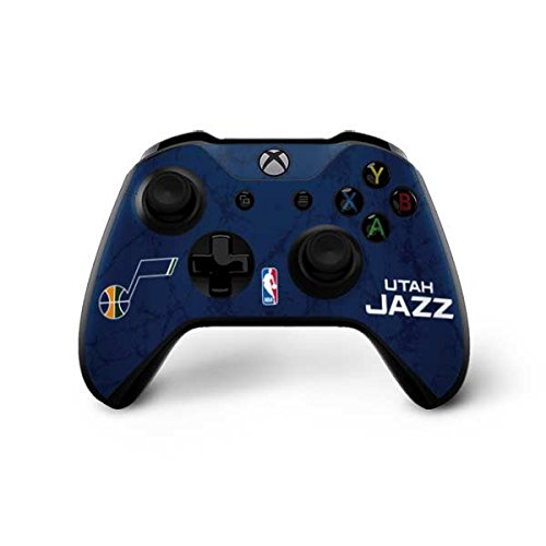 Skinit Utah Jazz Blue Texture Xbox One X Controller Skin - Officially Licensed NBA Gaming Decal - Ultra Thin, Lightweight Vinyl Decal Protection