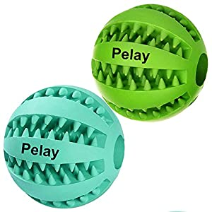 Pelay Dog Ball Toys for Pet Tooth Cleaning Chewing Playing
