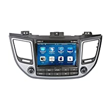 XTTEK 8 inch Touch Screen in dash Car GPS Navigation System for Hyundai Tucson 2016 2017 DVD Player+Bluetooth SWC+Backup Camera+North America Map