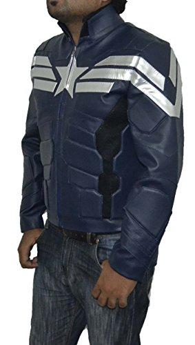 Captain America polaire Hiver Soldier simili cuir Bleu foncé Veste meilleur cadeau de Noël