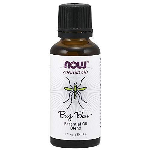 Now Essential Oils, Bug BanTM Blend, Bug-Repelling Essential Oil Blend for Inside and Outside Usage, Made with Pure Essential Oils, Vegan, 1-Ounce