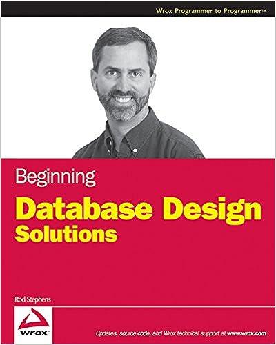 Beginning database design solutions 1 rod stephens ebook amazon fandeluxe Image collections