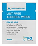 "FG Clean Wipes 4""x3"" Lint Free Alcohol Wipes"