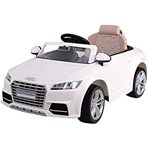 White Kids Ride On 12V Power Electric Car LED Lights MP3 RC with Remote Control