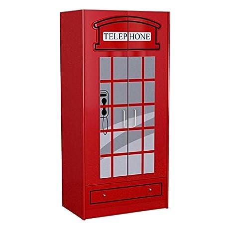 Armadio 2 Ante Prezzi.Paris Prezzi Armadio 2 Ante Cabina Londra Rosso Amazon It Casa E