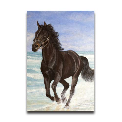 NewPostersWorld Beautiful Painting of Horse Running on Beach Customized Decorative Creative Art Posters Home Modern Decoration Print Decor for Living Room Custom Poster 12