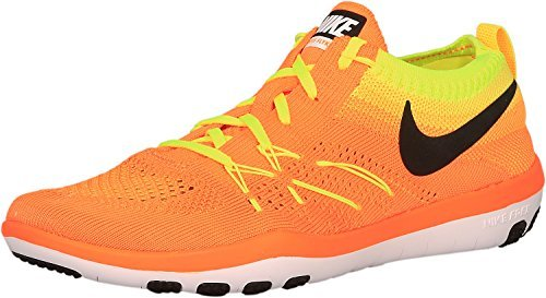 NIKE Women's Free Focus Flyknit Training Sneakers From Finish Line, Size 6.5, Total Orange/Black-Volt
