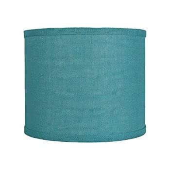 Mainstays lamp shade teal amazon urbanest classic drum burlap lampshade 12 inch by 12 inch by 10 inch spa aloadofball Choice Image