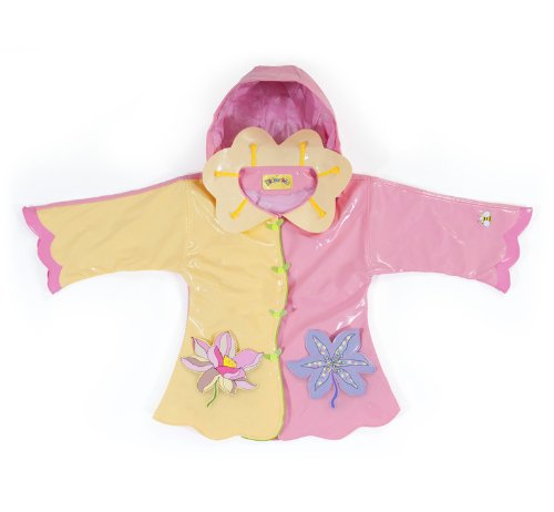 Kidorable Lotus Pink/Yellow PU All-Weather Raincoat for G...