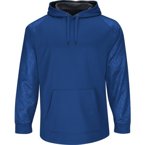 Majestic Athletic Majestic Youth Premier Hooded Tech Fleece Pullover Small Royal
