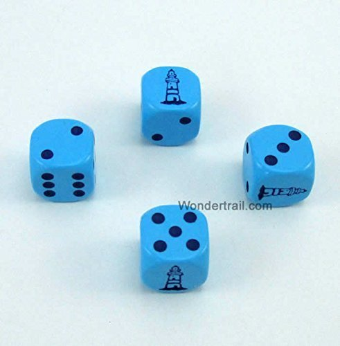 超人気 Lighthouse Koplow Dice D6 Blue Opaque with B014H8TZ1U Black Pips 16mm Opaque (5/8in) Set of 4 Dice Koplow Game WKP11667E4 B014H8TZ1U, OTC 楽天ショップ:bfe9fbf8 --- irlandskayaliteratura.org