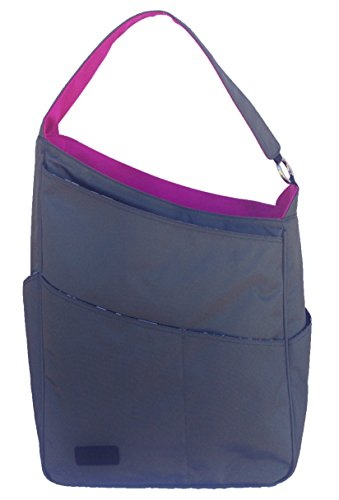 Maggie Mather – Shoulder Bag – Pewter/Fuchsia