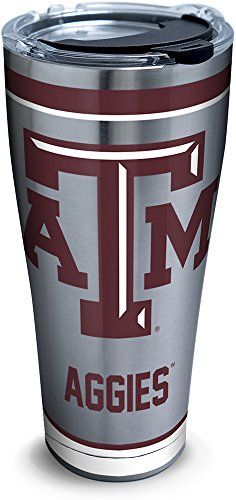 Texas Aggies A&m Water (Tervis 1298171 Texas a&M Aggies Tradition Stainless Steel Tumbler with Lid, 30 oz, Silver)