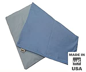 "Weighted Blankets Plus LLC Large Weighted Lap Pad 7lb - 17"" x 23"" (Light Blue)"