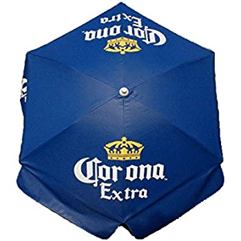 Corona Extra Vinyl 6ft Deluxe Patio U0026 Beach Umbrella INCLUDES 2 Lower Poles