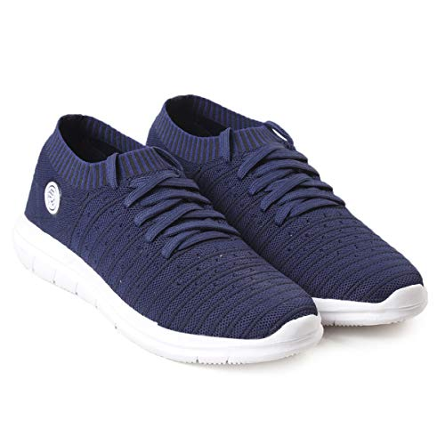 41zCDR6P27L. SS500  - Bacca Bucci® Athleisure Series Running Sneakers Shoes Men Slip-On Fly Knitted Lightweight Casual Shoes for Fitness Gym Tennis Training Jogging Trekking Driving Power Yoga Sport Shoes