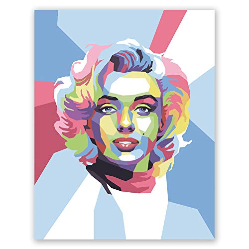 Marilyn Monroe Poster - Pop Art Portrait Print - Home Wall Decor (8x10) ()