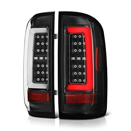 - [For 2015-2019 Chevy Colorado & GMC Canyon Pickup Truck] Black Housing Premium OLED Neon Tube Full-LED Tail Light Lamp Assembly, Driver & Passenger Side