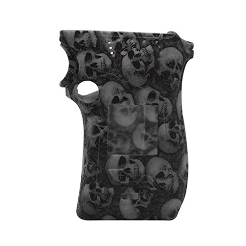 (Rayley Protective Silicone Sleeve Case Skin Cover Decal for Smoktech SMOK MAG 225W Mod Right Hand Skull Edition (Black))