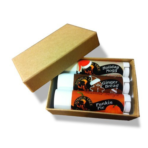 Joshua Tree Lip Balm - Holiday Trio Gift Set (Holiday Nogg, Ginger Bread and Punkin Pie) by Joshua Tree Products LLC